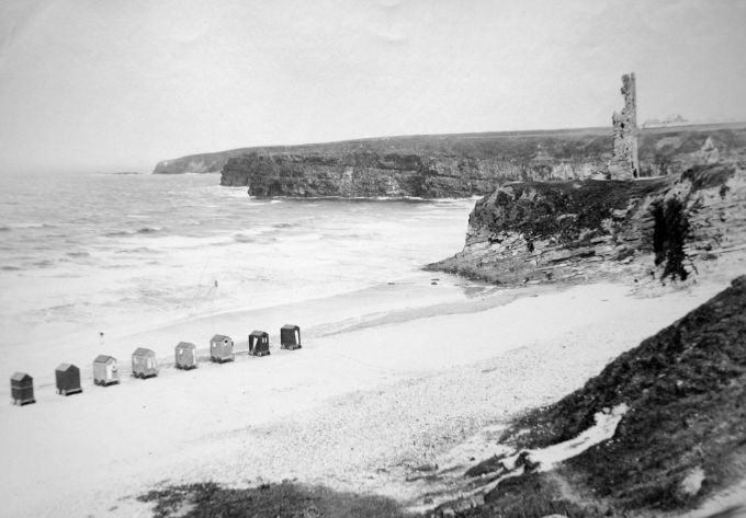 Bathing Boxes 1890s on Ballybunion Beach
