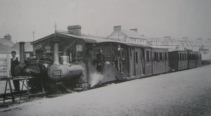 Old Lartigue train arriving in Ballybunion Station (2)
