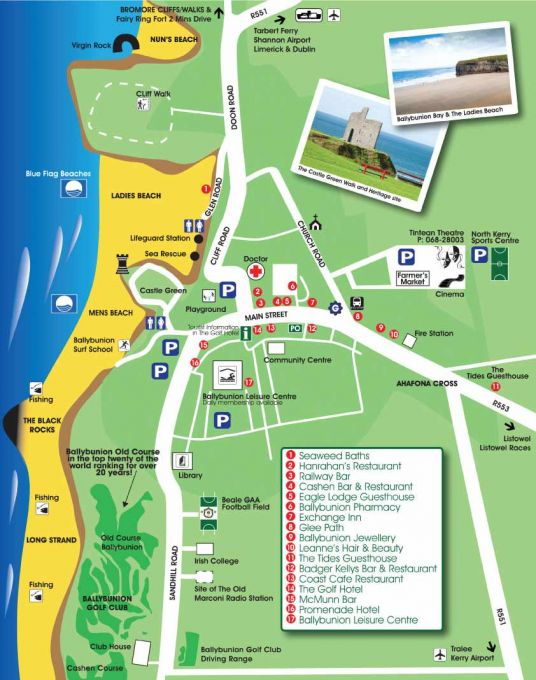 Ballybunion Map