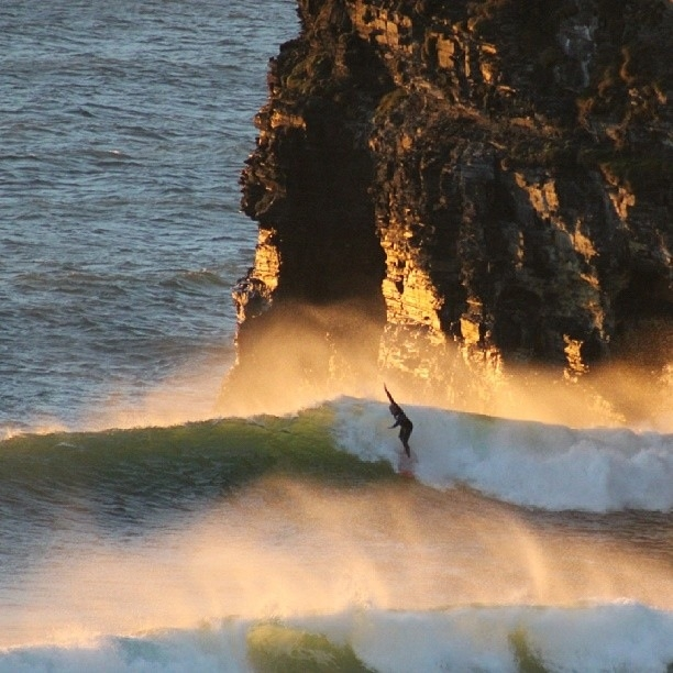 Surfing in ballybunion