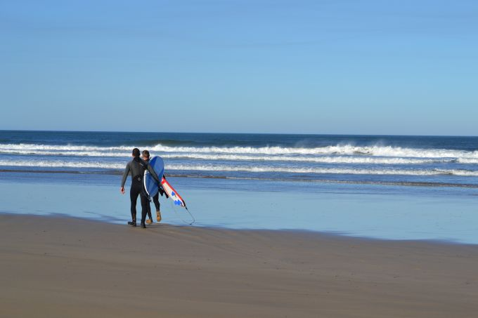 Surfing in Ballybunion